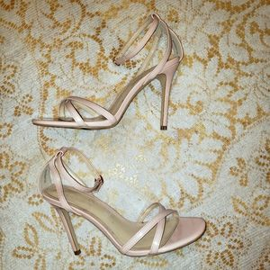 F21 pink strappy patent leather stilletos Size 8